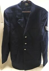 Us Military Issue Air Force Blue Menand039s Size 41l Usaf Service Dress Coat Jacket
