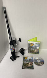 Bass Pro Shop The Strike Fishing Game W/rod And Reel Controller Xbox 360 Tested