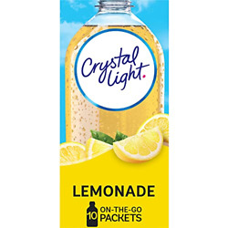 Crystal Light Sugar-free Lemonade Drink Mix 60 On-the-go Packets 6 Packs Of 10