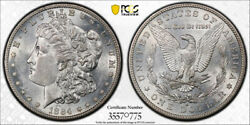 1884 S 1 Morgan Dollar Pcgs Au 58 About Uncirculated To Mint State Exception...