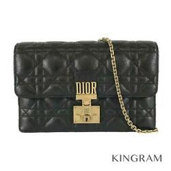 Dior Addict Chain Wallet S2012cgmj Black Goatskin Womenand039s Cross Body From Japan