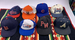 Vtg Lot Of 8 Mlb Snapback Fitted Hats New Era Sports Specialties 70s 80s 90s Usa