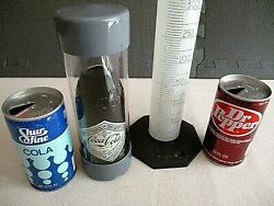 75th Anniversary- Coca-cola Bottle + 1970and039s Collectible Cans.