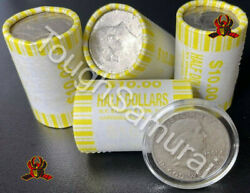 Unsearched Half Dollar Coin Roll With Bonus 90 Silver Benjamin Franklin Coin
