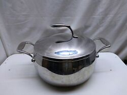 Tupperware Chef Series Stainless Non Stick 6 Qt Stockpot Dutch Oven Roaster Lid