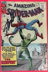 The Amazing Spiderman 20, First Appearance Of Scorpion, Signed By Stan Lee