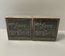 Thirstystone Occasions Coasters Love The Wine Youre With Lot Of 2 Sets 8 Coaster