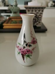 1950s Chinese famille rose enamel flower and bird vase #5 Home clearance