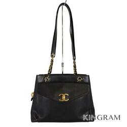 Chain Tote Gold Hardware Black Caviar Skin Womenand039s Tote Bag From Japan