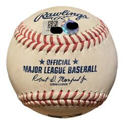Dylan Carlson 1st Home Run Game Used Baseball Actual First Pitch Of Game
