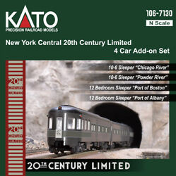 N Scale Kato New York Central 20th Century Limited 4-car Add Item 106-7130-1