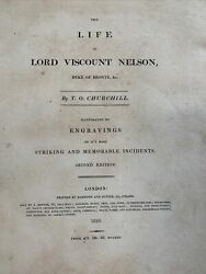 Antique The Life Of Lord Viscount Nelson 2nd Edition Hardcover 1810 Rare