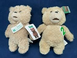 🔥👀 Talking Promo Ted And Ted2 8-inch Plush Dolls Clean And Working Great 🔥👀
