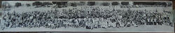 1937 Historic Panoramic Photo Northern Calif. Motorcycle Gypsy Tour Holister Ca