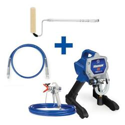 Magnum X5 Stand Airless Paint Sprayer 4 Ft. Whip Hose Pressure Roller Kit 0.5 Hp