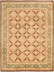 Vintage Tribal Area Rug 9'3 X 12'3 Authentic Oushak Hand Knotted Wool Carpet