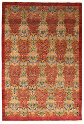 Hand-knotted 5and03910 X 8and0398 Lahore Finest Collection Transitional Wool Rug