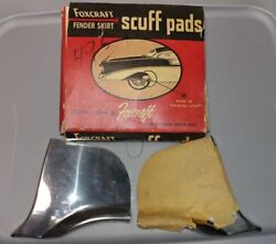 Foxcraft Fender Skirt Scuff Pads Sp 24 Fits And03961-and03962 Ford And Mercury New Old Stock