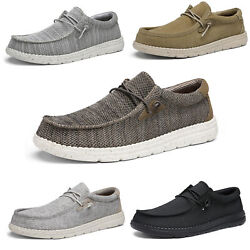 Menand039s Wally Lightweight Stretch Loafers Breathable Casual Slip-on Sneakers Shoes