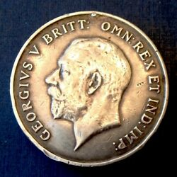1918 Great Britain George V Ww 1 Crown Size Silver Victory Service Medal