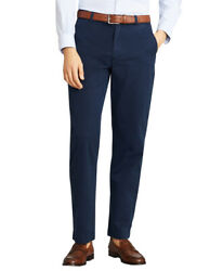 Brooks Brothers Men's Clark Fit Garment-dyed Stretch Chinos,navy, 34x34 7104-6
