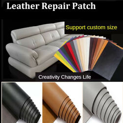 Pu Leather Repair Self-adhesive Patch No Ironing Sofa Car Seat Bags Furniture Us