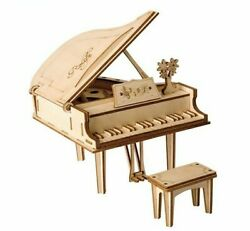 Grand Piano Toys 3d Wooden Puzzle Diy Toy Assembly Model Desk Decoration