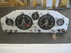 Jaguar Xk150 Dashboard With All Gauges And Switches, Complete And In Great Condition
