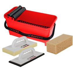Cleaning Kit Bucket Float Sponge Helps Remove Dried Grout Haze