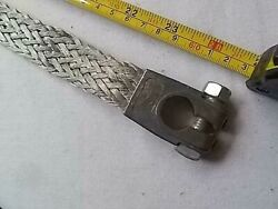 Nos Negative Battery Cable Flat Braided 6 Or 12 Volt 24 Long Excellent