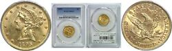 1895 5 Gold Coin Pcgs Ms-63