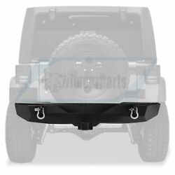 All Steel Rear Bumper With 2and039and039 Hitch Receiver 2x D-rings For Jeep Wrangler 07-18