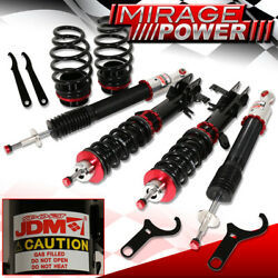 Jdm Sport Coilover Damper Kit For 2009-2014 Honda Fit 4dr W/camber Plates Racing