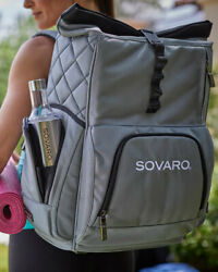 Sovaro Cooler Backpack Blue 24 Cans Or 6 Wine Bottles Hiking Fishing Camping Nwt