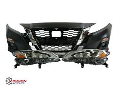 For 2019-2020 Nissan Altima Front Bumper Grill Fogs Signals Led Headlights Set