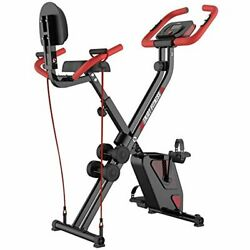 Indoor Folding Exercise Cycling Magnetic Upright Stationary Bike With Dumbells