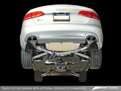 Awe Tuning 2010-2016 Audi S4 3.0t B8 Track Catback Exhaust 90mm Chrome Tips