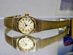 Womens Citizen Cq Triple Gold Watch And Security Chain 3220 New Battery. Warranty