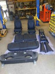 2014-2018 Bmw X5 Complete Seat Set Front And Rear And Console Black Leather