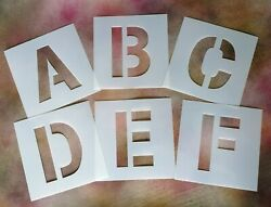10cm / 100mm Tall Large Alphabet Stencil Letters And Numbers - Plastic Mylar