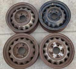 """Early Ford V8 Artillery Wheels 5.5"""" Pattern 16x4.5"""" 1932 Coupe 1933 1934 Trog"""