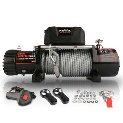 12v Waterproof Steel Cable Electric Winch 12000 Lb Load Capacity Usa Stock