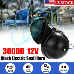 300DB Super Loud Snail Air Train Horn 12V Electric For Car Motorcycle Boat SUV