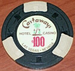 100 Vintage 2nd Edition Gaming Chip From The Castaways Casino Las Vegas