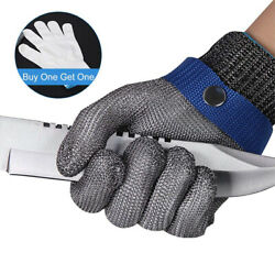 Safety Cut Proof Stab Resistant Stainless Steel Mesh Butcher Work Gloves - L Xl