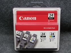 New/sealed Canon Model Bci-24 Multipack 2 Black Ink And 1 Color Ink Tank