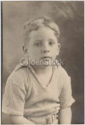 Redhead Twin Boys In Cute Polo Shirts Vintage Snapshot Photographs