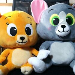 Rare Tom And Jerry Premium Cute Big Plush Doll 2pcs Set Limited To Japan 18in