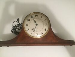 1950and039s Antique Seth Thomas Clock W/ Chime -parts Or Repair-beautiful Condition