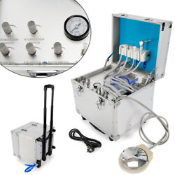 Portable Dental Delivery Unit Box+compressor High Low Speed Handpiece Tube 4h Us